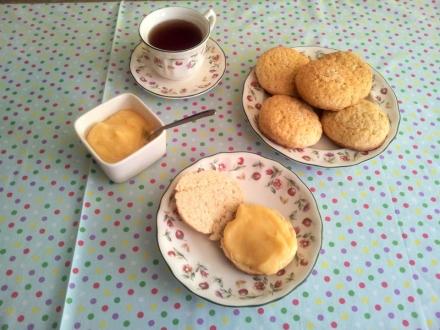 Scones, Lemon curd, te, repostería inglesa