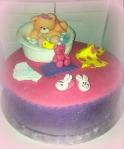 tarta fondant, tarta cumpleaños, fondant